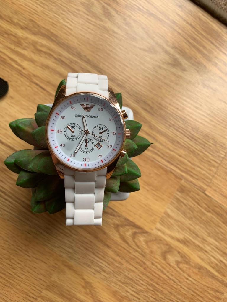 Armani White & Gold Watch Replica