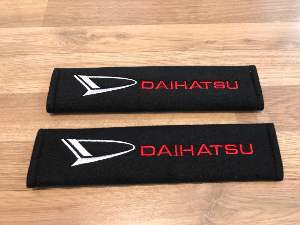 2X Seat Belt Pads Gift Daihatsu Terios Sirion Copen S Cuore