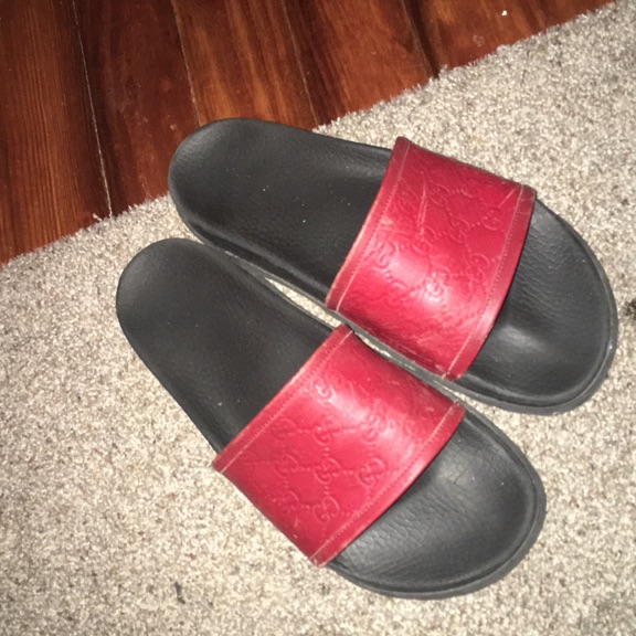 Red Gucci Slides