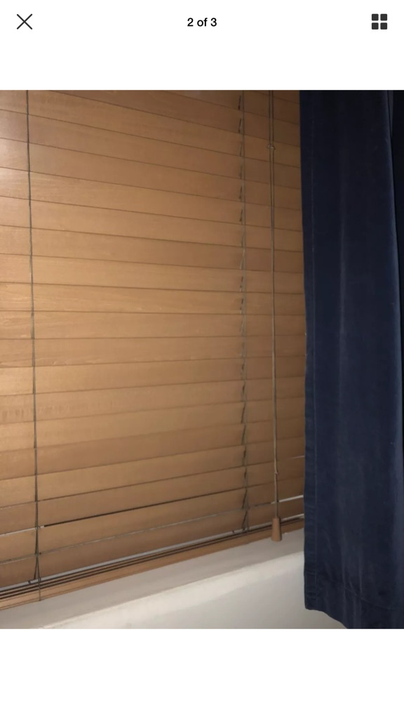 Ikea Wooden Brown Blinds,