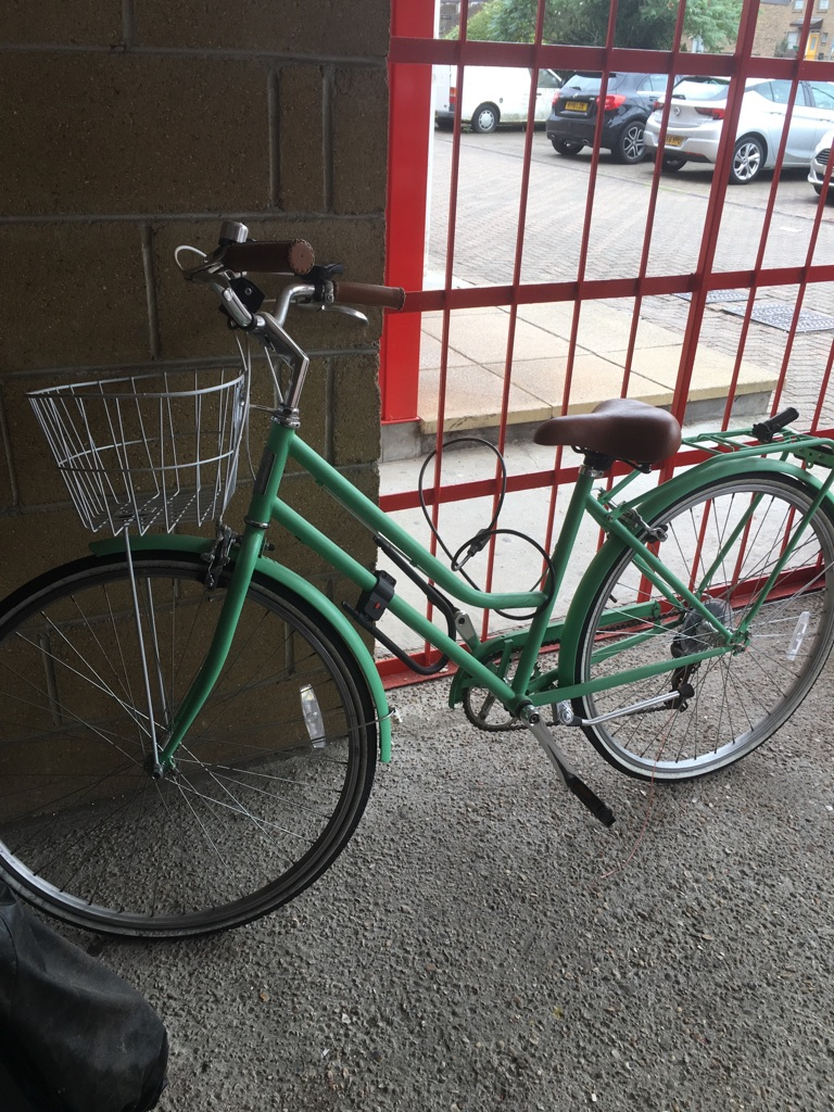 Mint green ladies bike