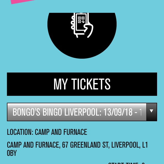 8 x Bongos Bingo tickets 13 September