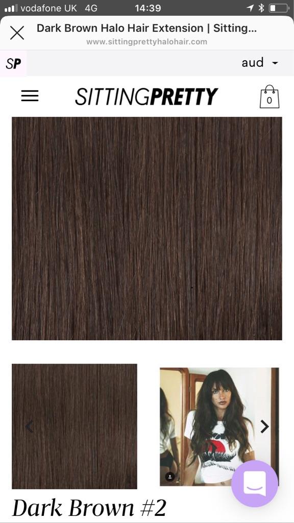 Halo - dark brown hair extensions