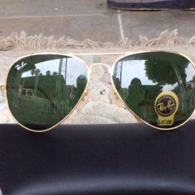Ray ban gold framed aviator sunglasses