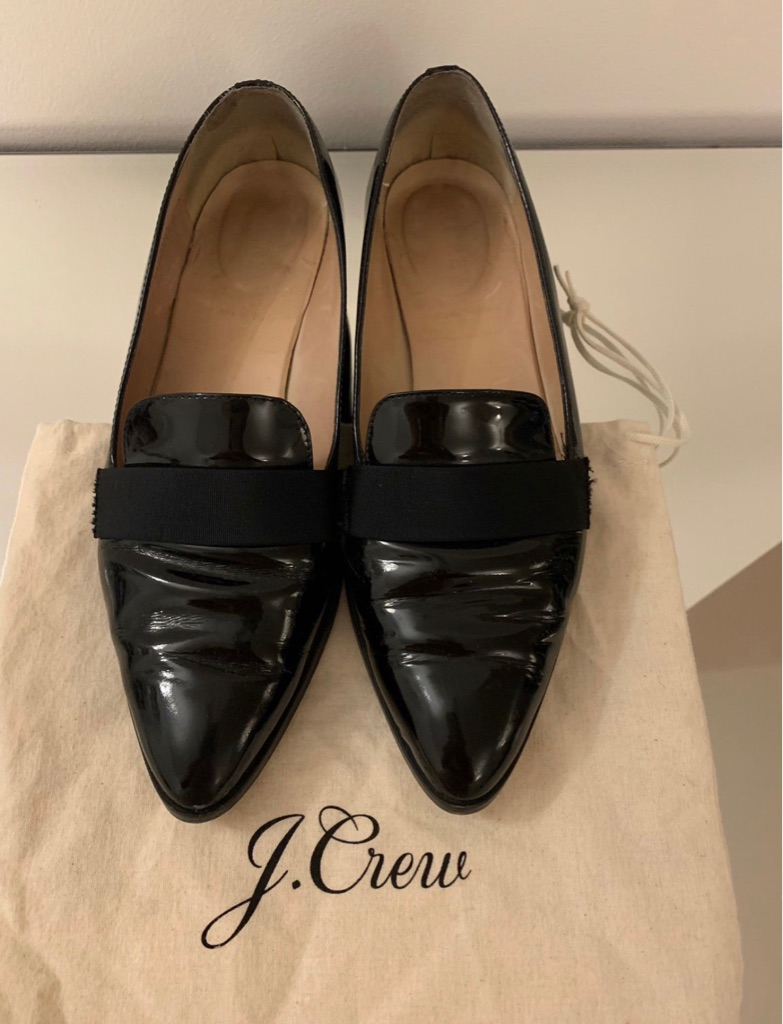J. Crew, patent leather shoes