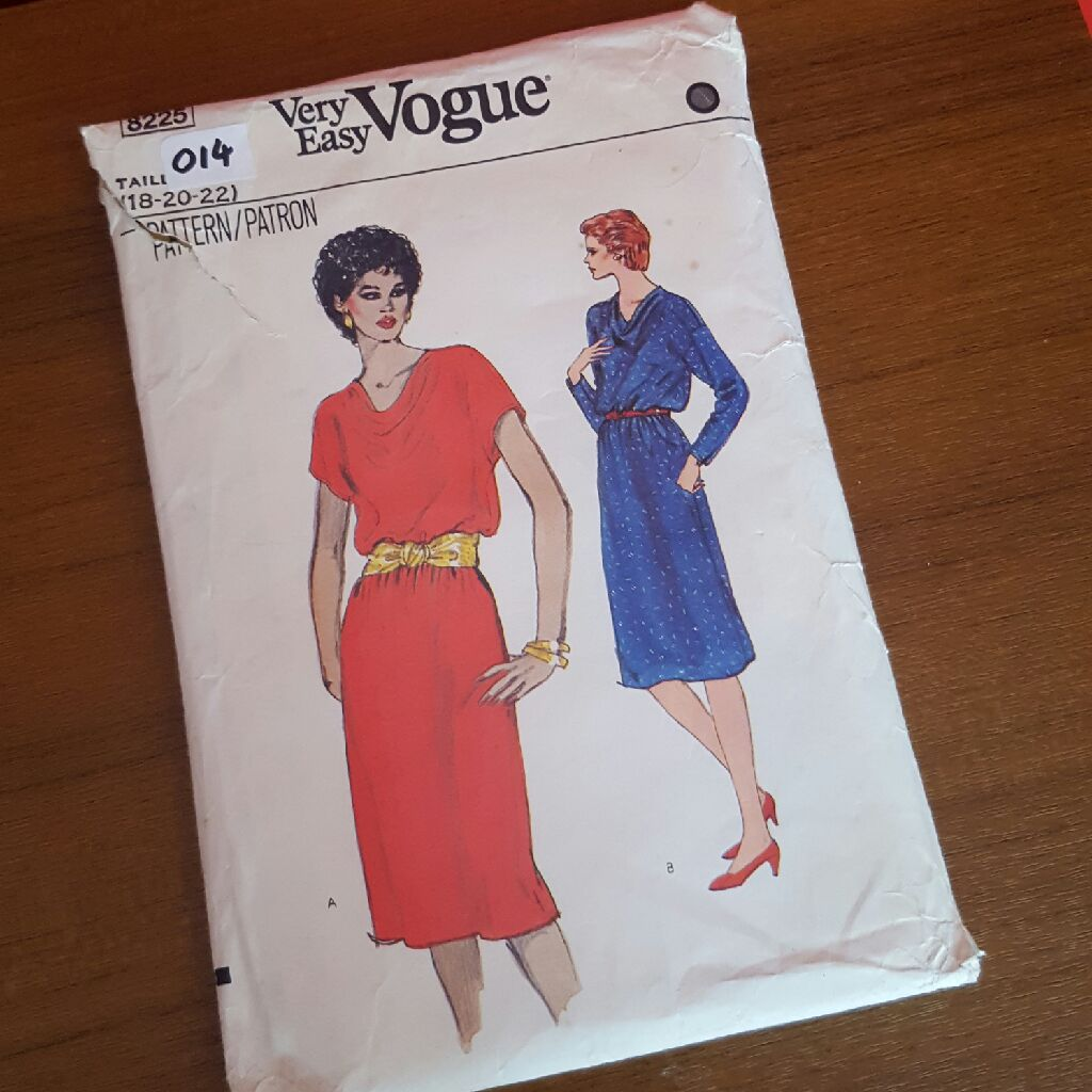 Vintage vogue sewing pattern size 18-20-22