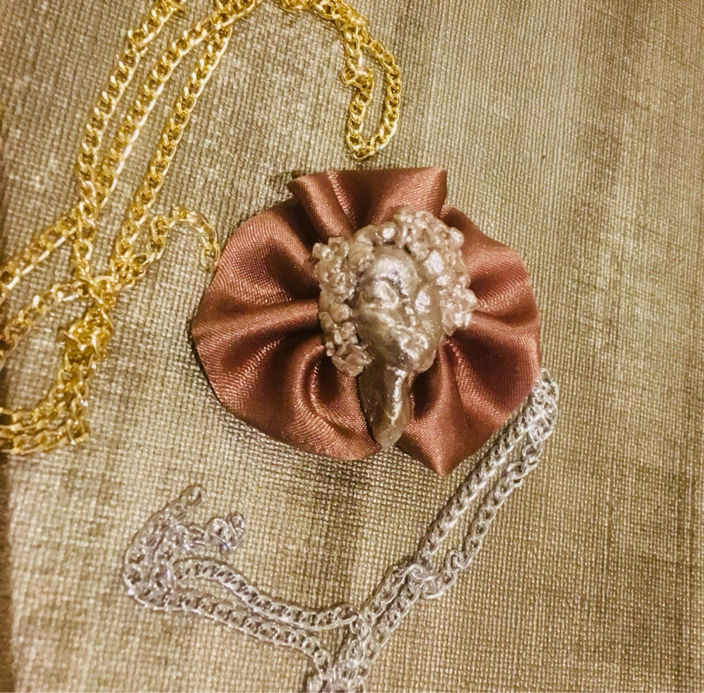 Afro Deco Rosette Brooch