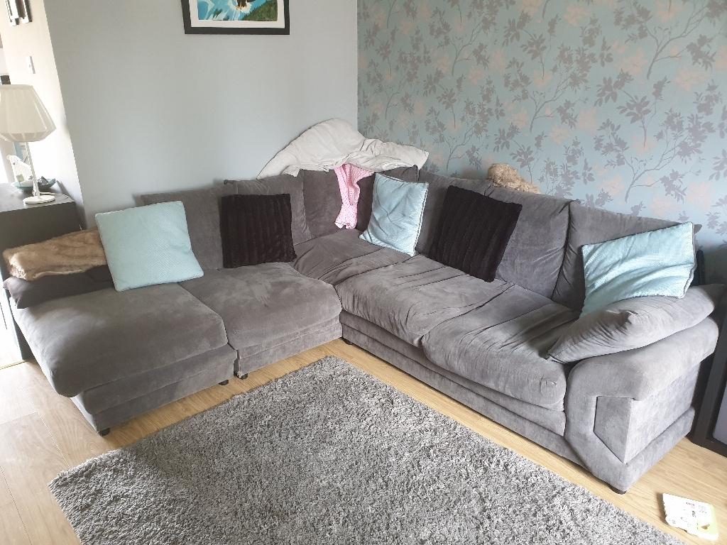 Grey Corner Sofa (please read description)