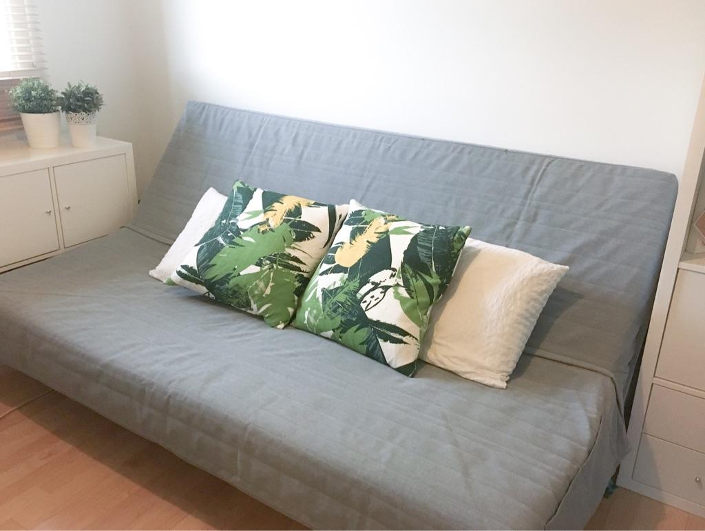Grey IKEA sofa bed