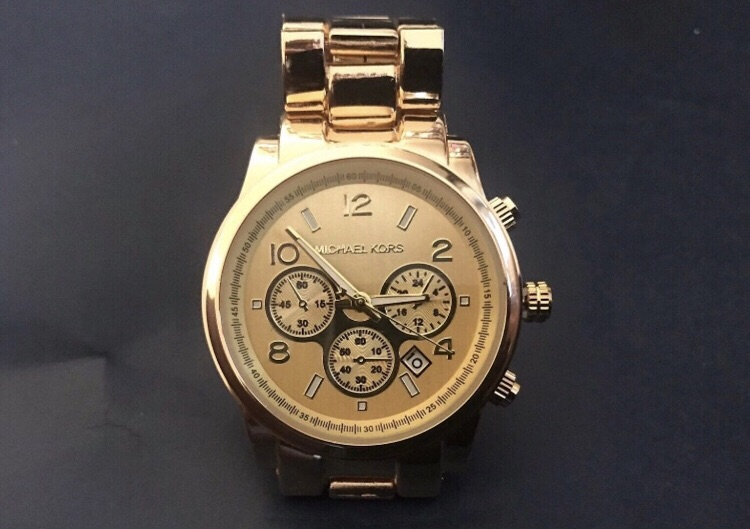 Men Women Unisex Gold Michael Kors Watch