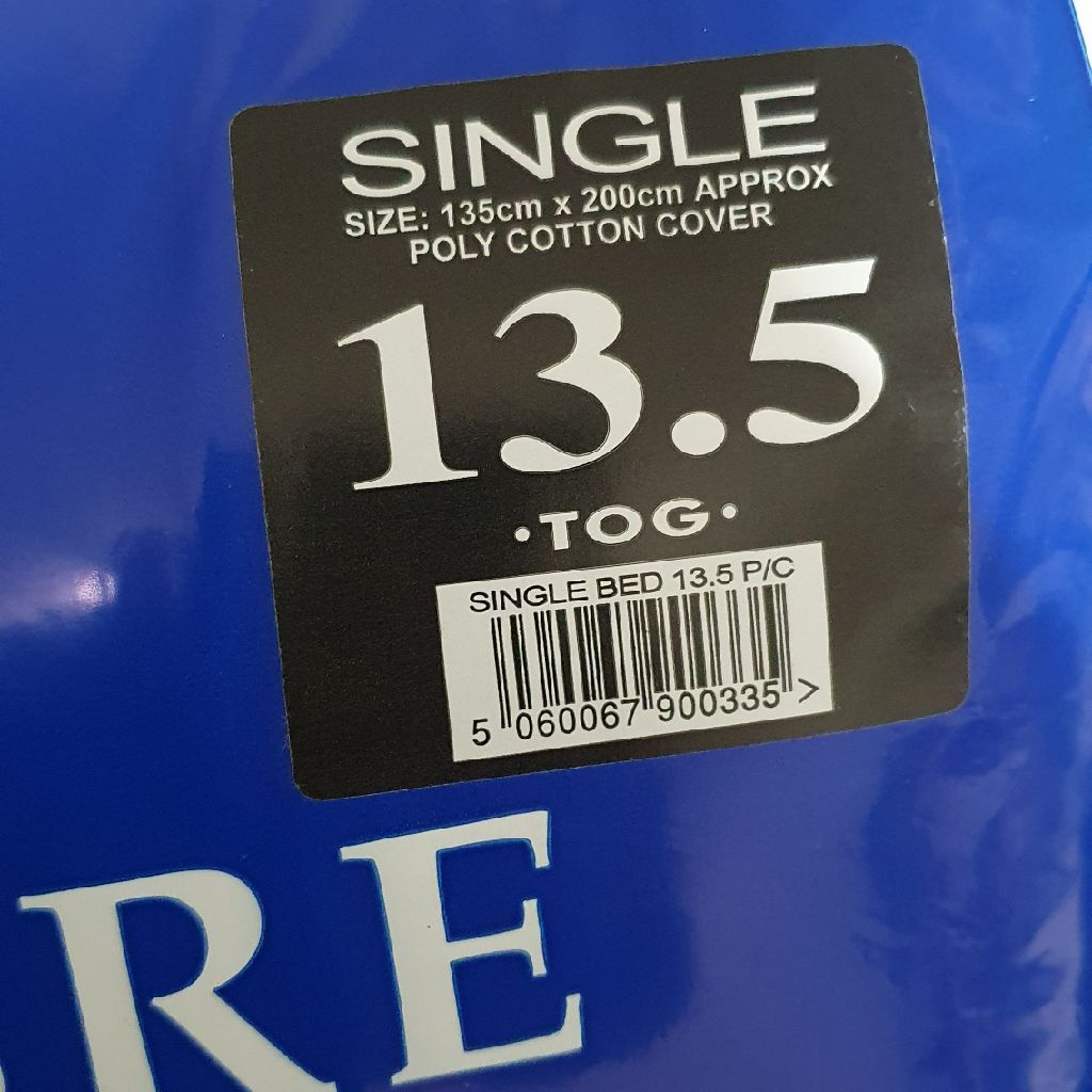 Single duvet