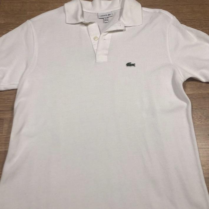 White Lacoste Polo