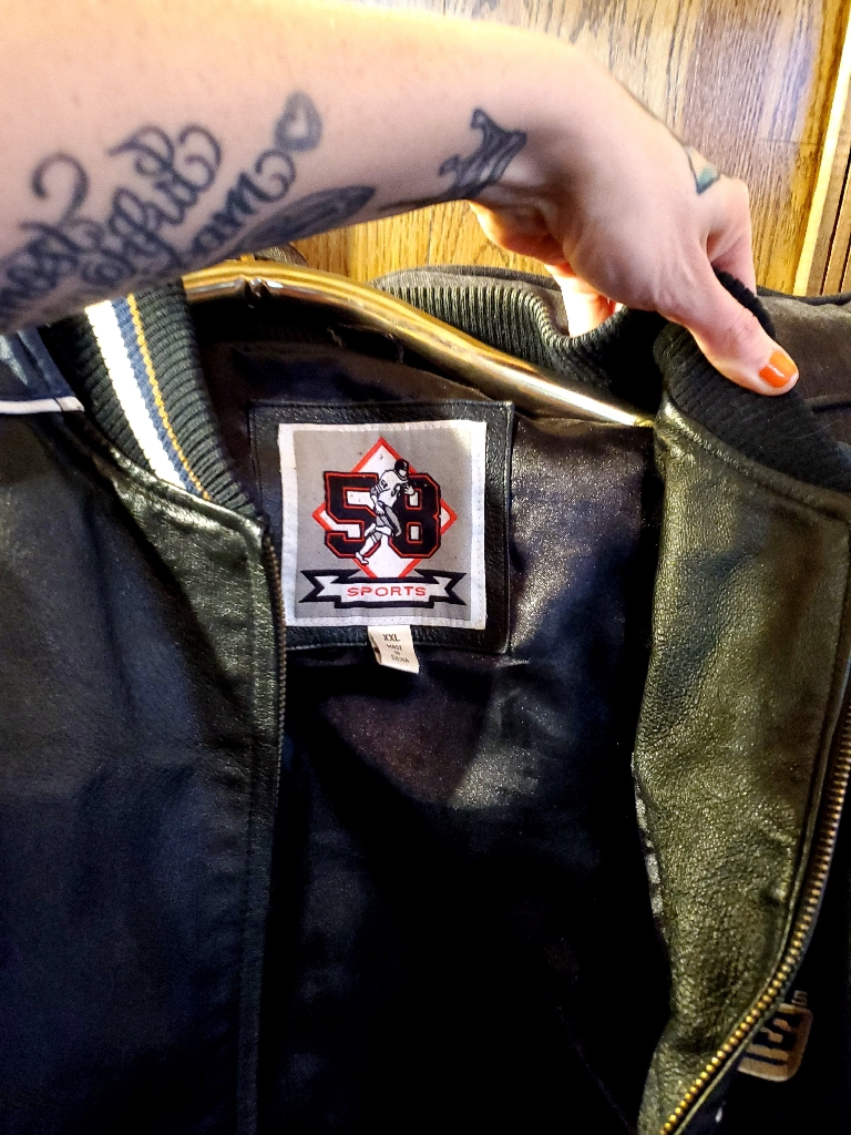 Football rams leather jacket