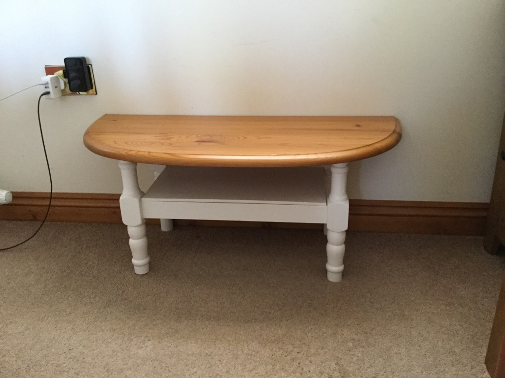 Coffee Table/TV Stand, shabby chic finish