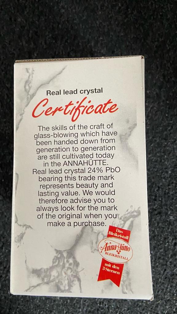 Anna Hutte 24% lead crystal