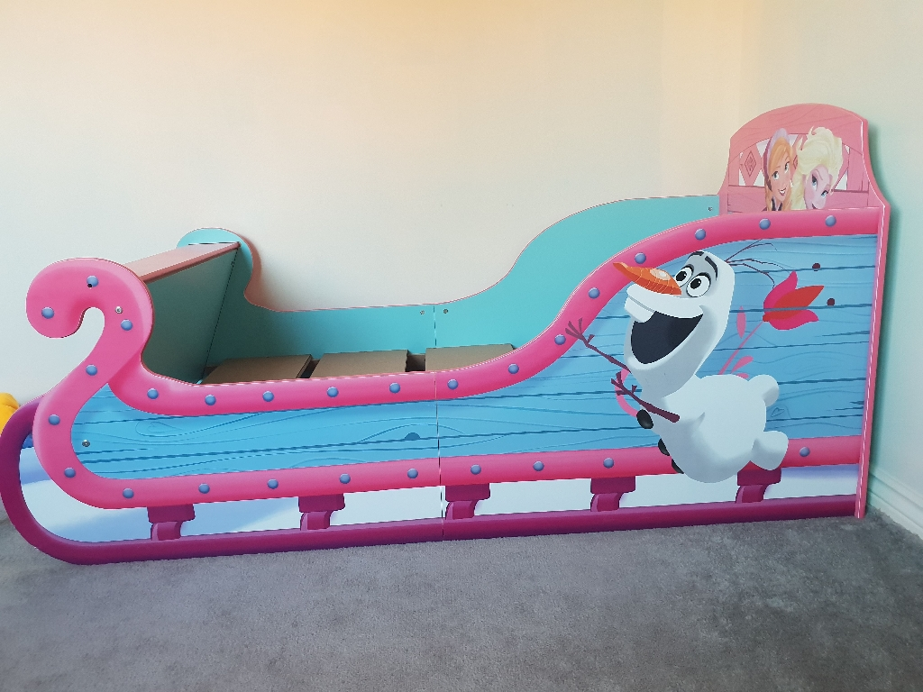 Frozen Toddler Sleigh Bed