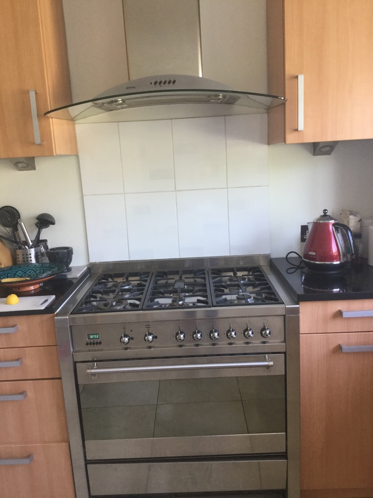 Preloved Smeg range and cooker hood
