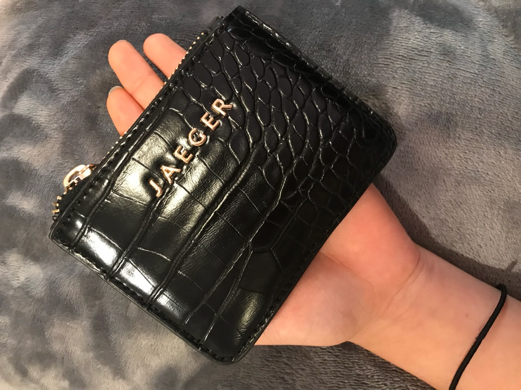 JAEGER leather purse new