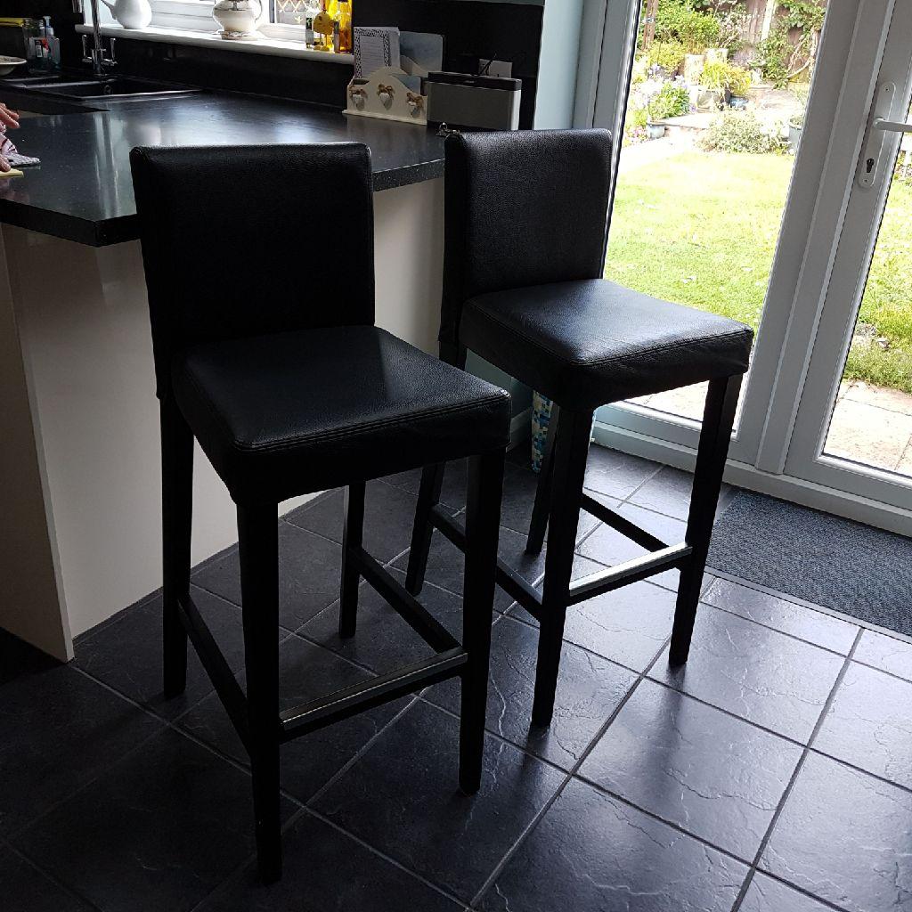 Two Ikea bar stools