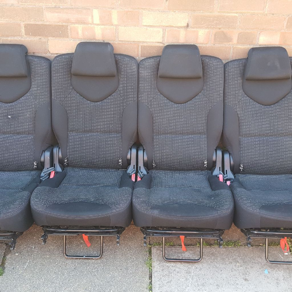 4x Peugeot 308 sw seats fit 2nd & 3rd row