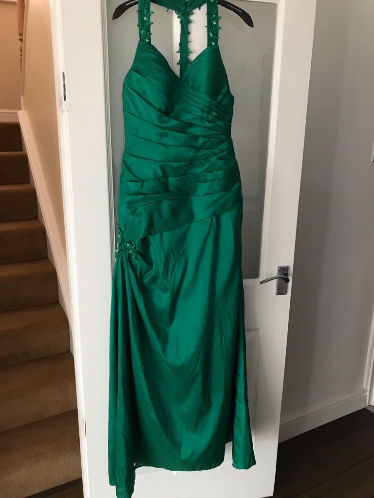Green ball gown/prom dress. Size 12
