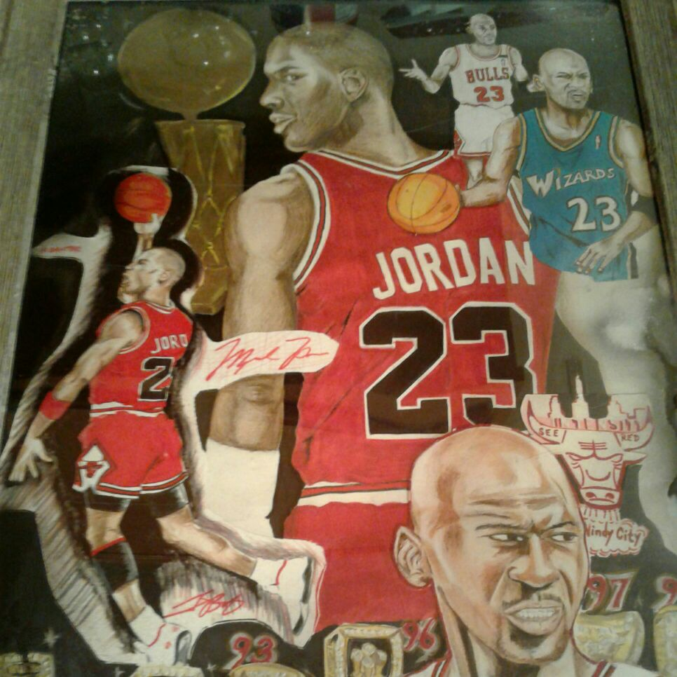 Michael Jordan portrait