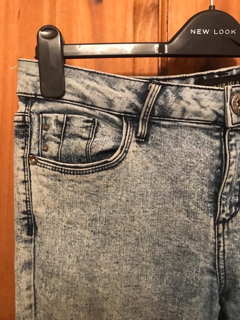River Island- Acid washed Straight leg Jeans