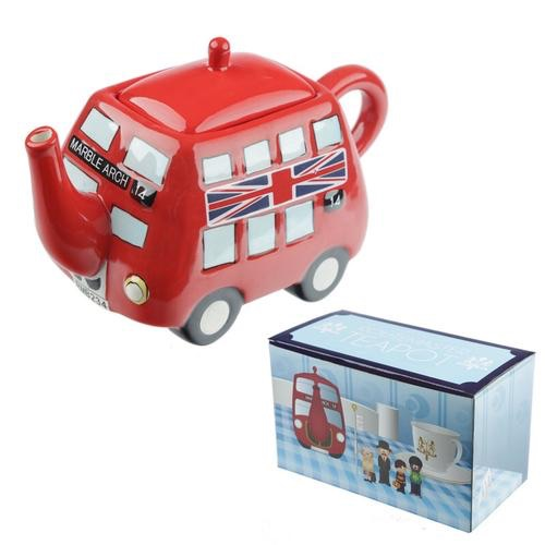 Novelty routemaster red bus teapot