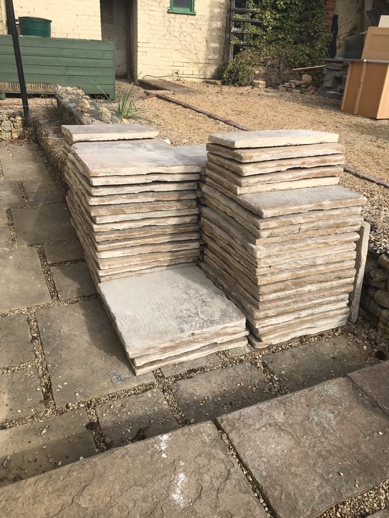 Antique style character concrete slabs