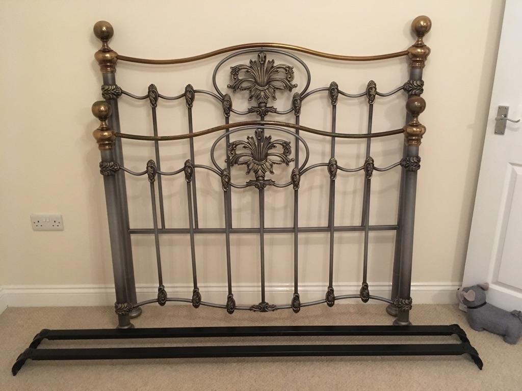Vintage brass bed frame