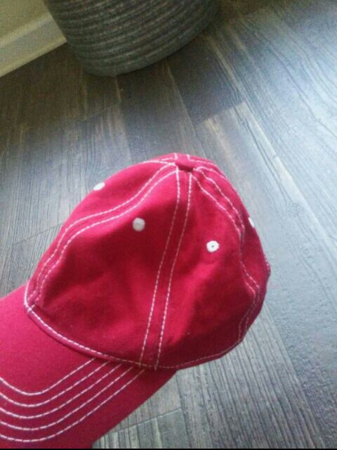 Red dad cap