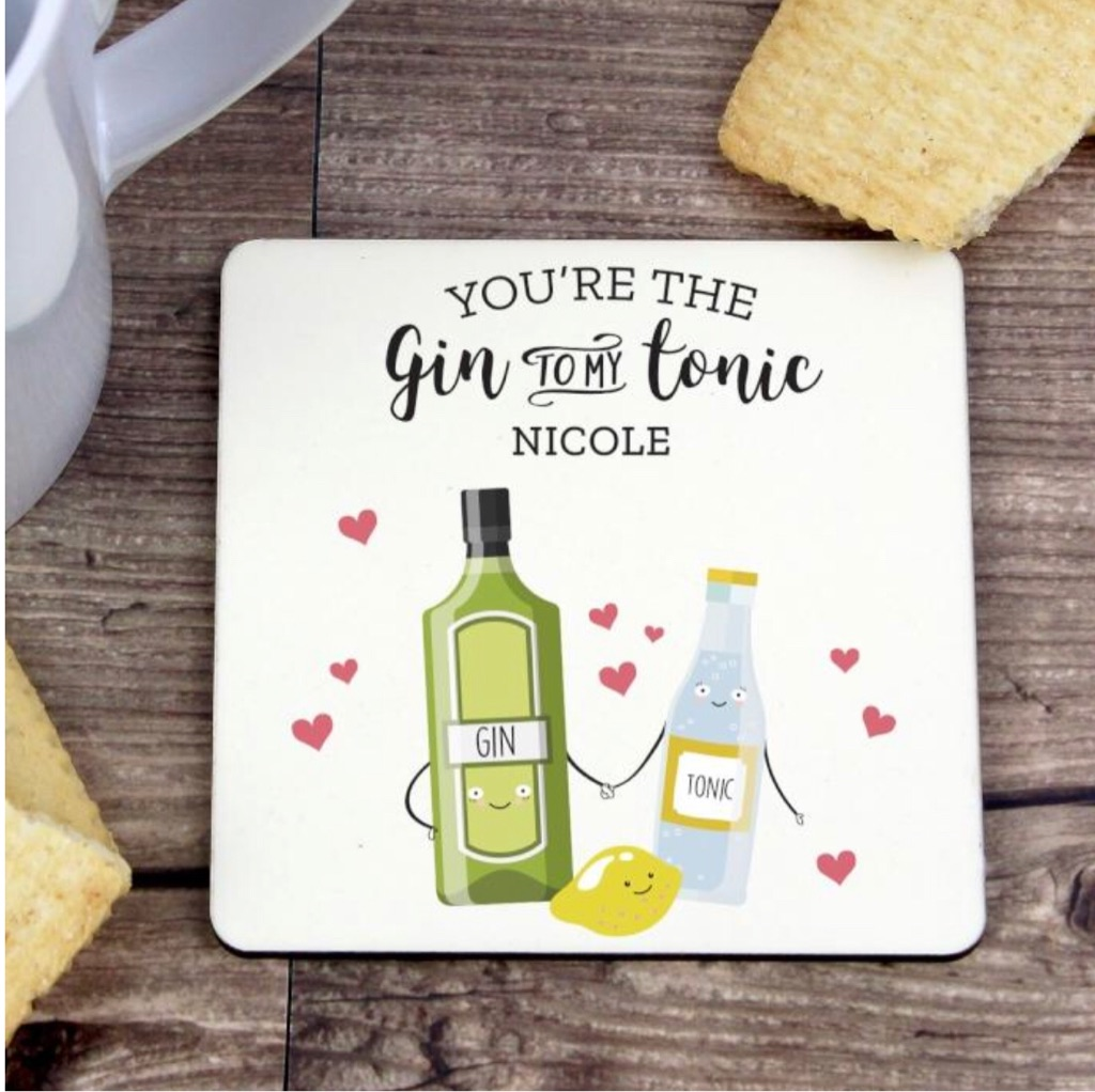 🍸Personalised 'Gin to My Tonic' Coaster 🍸