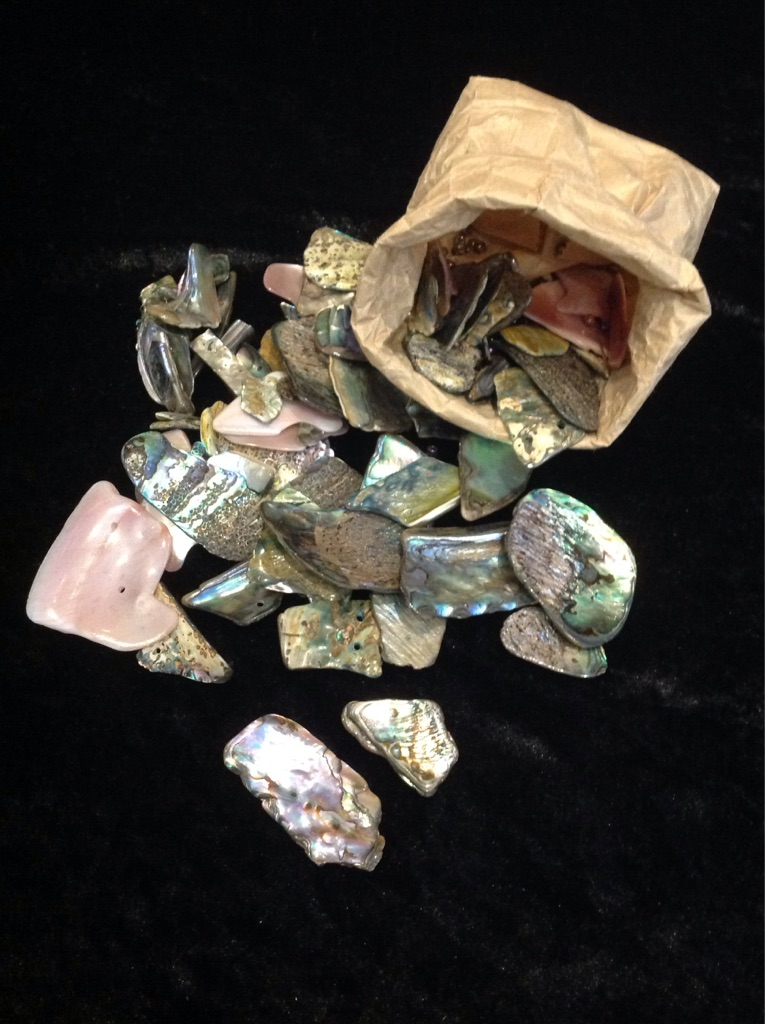 Mixed bag of Paua and abalone shell pieces
