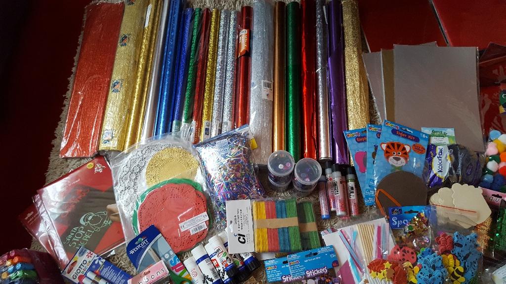 A massive  bundle of arts and crafts materials