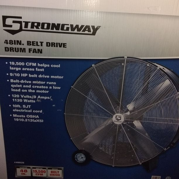 Belt drive drum fan
