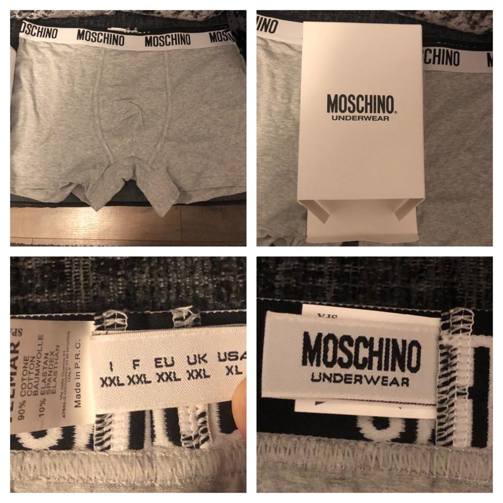 4 pairs Moschino Men's XXL boxer shorts  Brand new