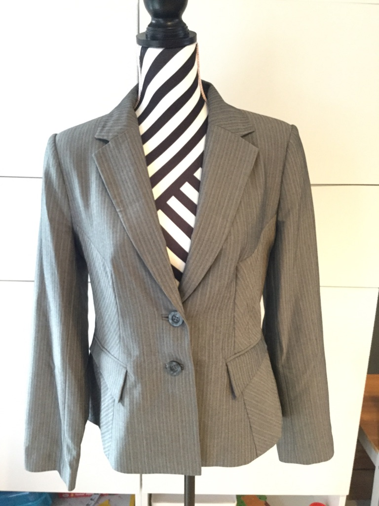New Look UK12 pinstriped suit jacket