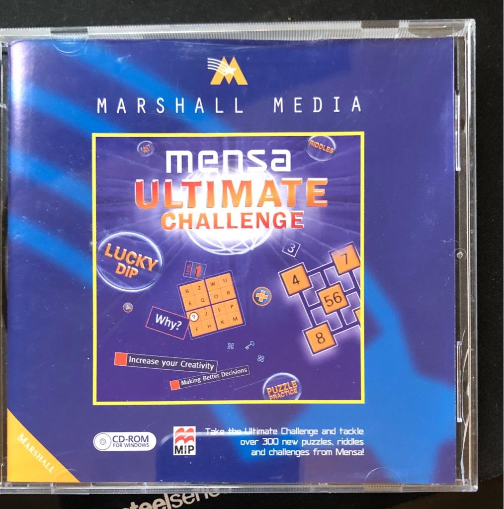 MENSA ULTIMATE CHALLENGE CD - ROM