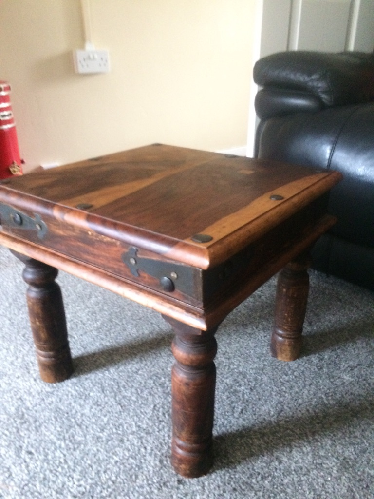 Small Mexican solid wood coffee/ side table