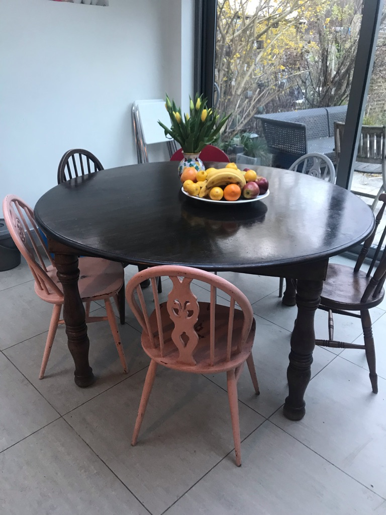 Lovely Large Wooden Round Table
