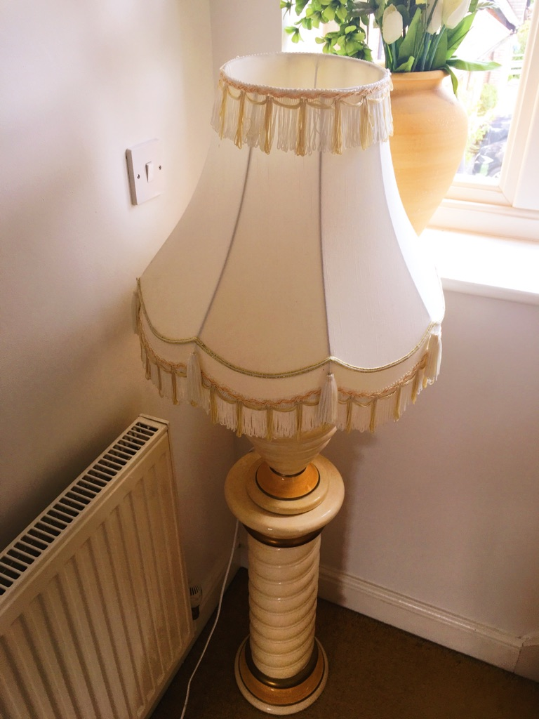 Vintage gold cream lamp