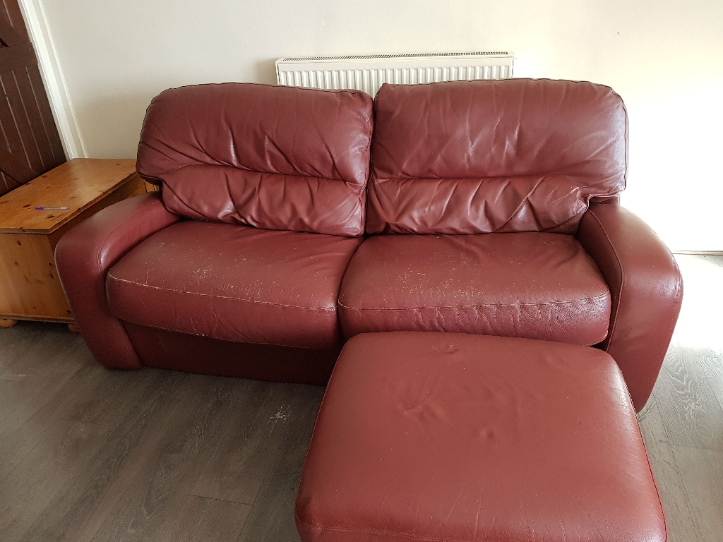 FREE 3 seater sofa bed, 2 arm chairs and storage footstall