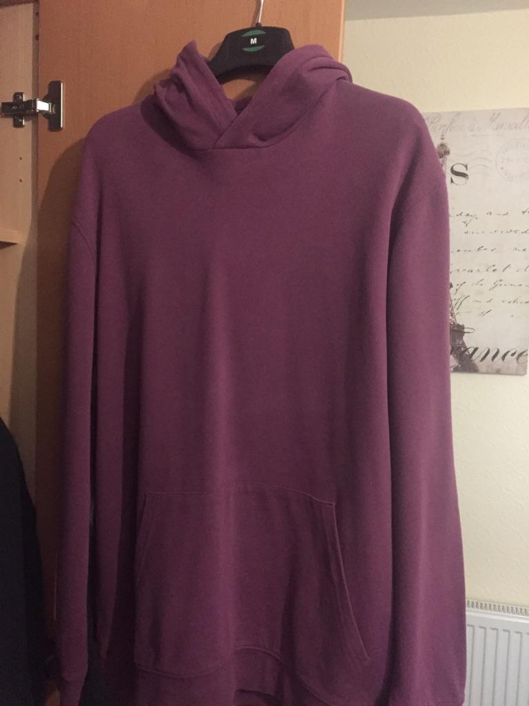 Topman Purple Oversized Hoodie