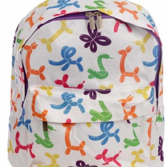 Handy kids school and everyday rucksack- balloon animals design