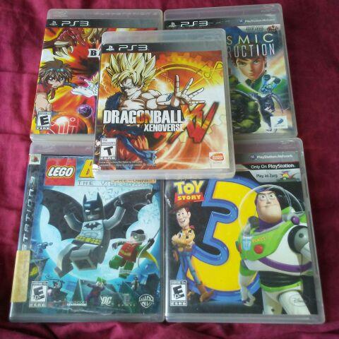 Dragonball Xenoverse/Ben 10 Ultimate Alien: Cosmic Destruction/Lego Batman/Bakugan/Toy Story 3