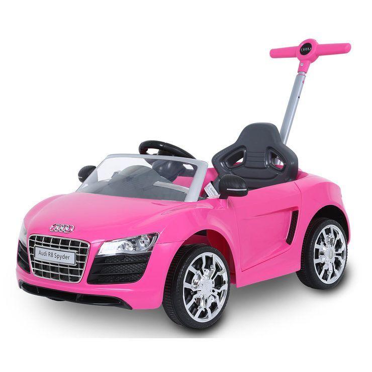 Audi Push along pink