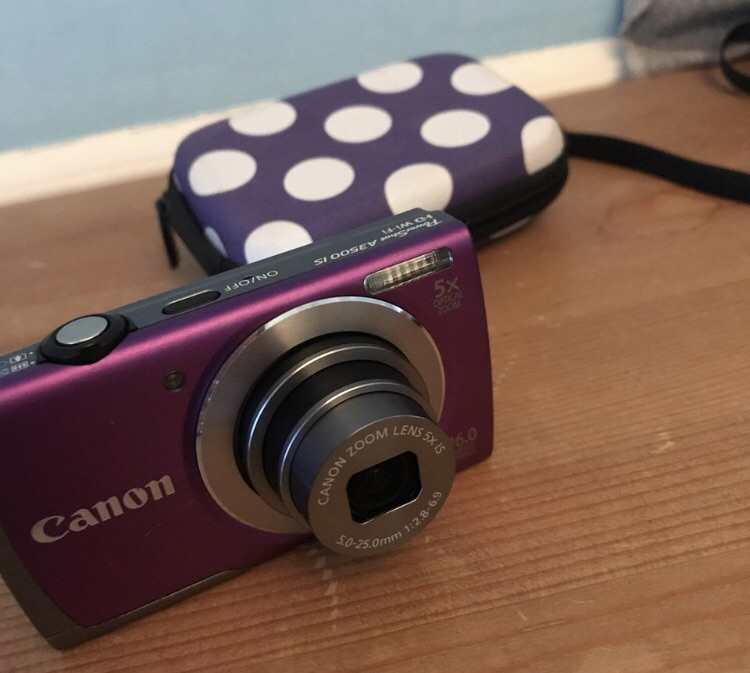Purple Canon power shot A3500 IS digital camera