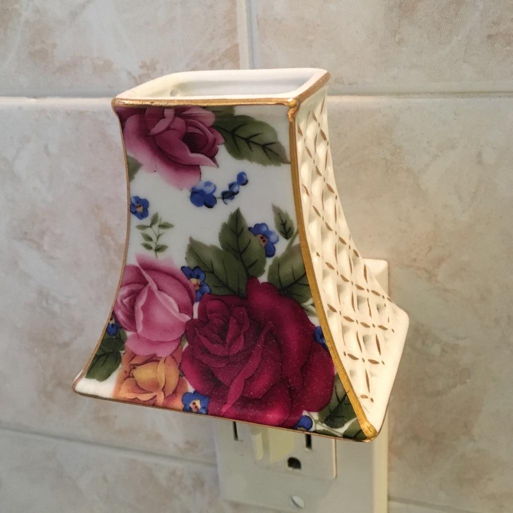 Floral Design Ceramic Night Light