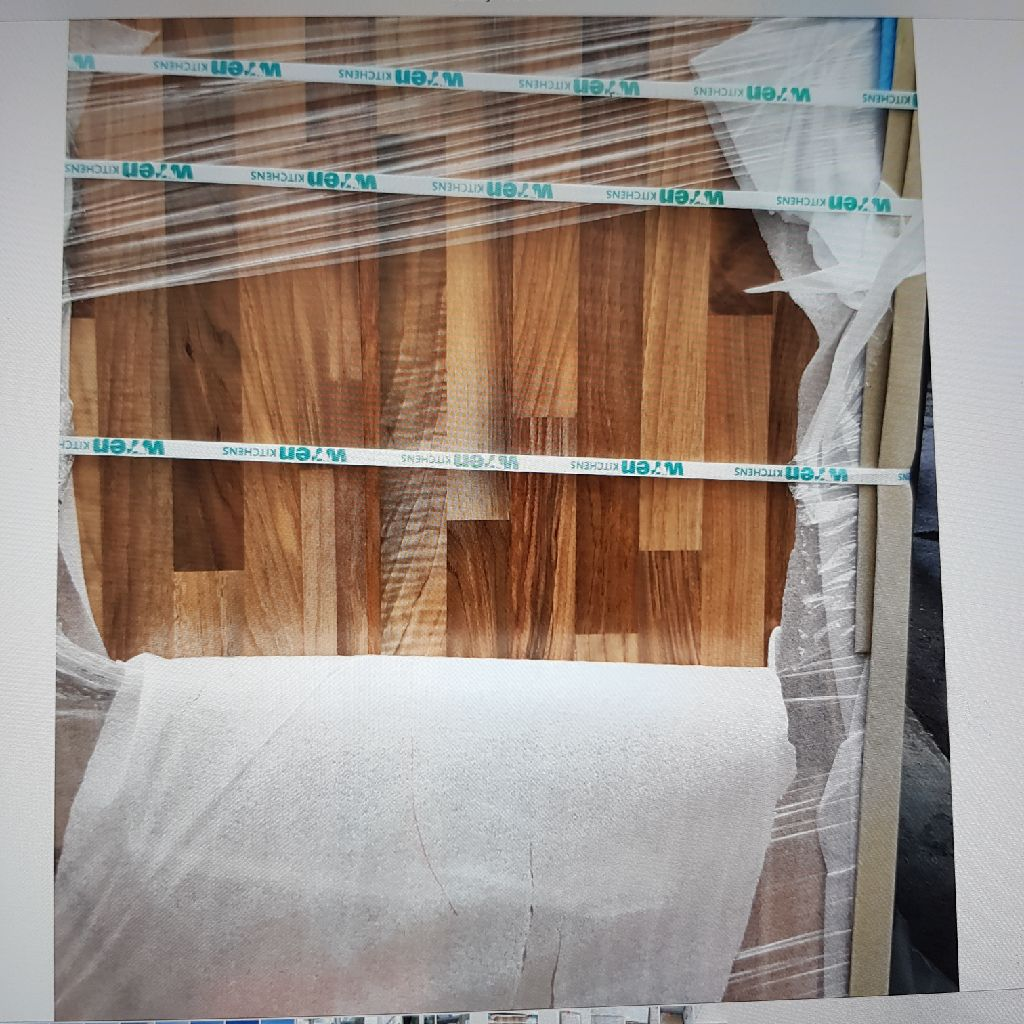 New Light walnut block worktops