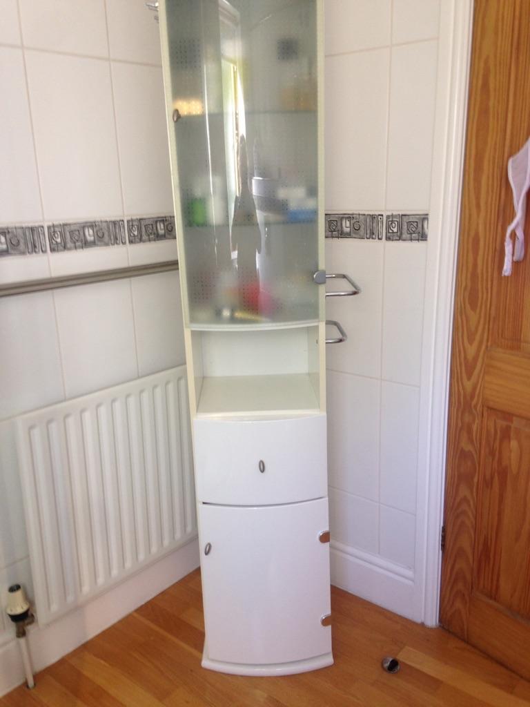 Swivel bathroom cabinet